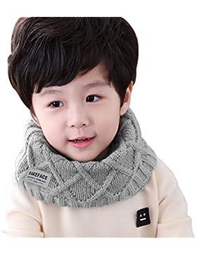 Kinder Schlauchschal Tuch Loopschal Loop gestrickt Rundschal Halstücher Winter Schal für 2-10 Jahre Baby Mädchen...