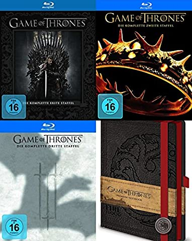Game of Thrones Staffel 1 2 3 + Notizbuch 15 Blu-Ray Collection Geschenk Set Limited Edition (Taylor Sammlung)