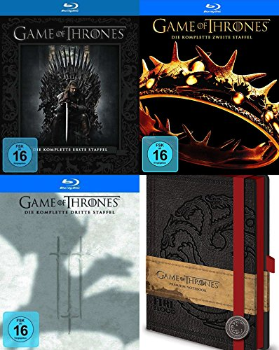 Preisvergleich Produktbild Game of Thrones Staffel 1 2 3 + Notizbuch 15 Blu-Ray Collection Geschenk Set Limited Edition