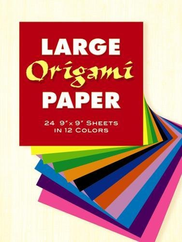 "Preisvergleich Produktbild Large Origami Paper: 24 9 X 9 Sheets in 12 Colors: 24 9"" X 9"" Sheets in 12 Colours: 24 9"" X 9"" Sheets in 12 Colours"