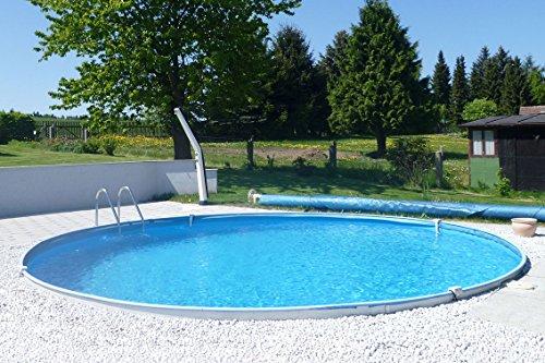 MTH Schwimmbecken, rund, 4,50m x 1,20m 0,6mm Stahlwand, Folie mit Keilbiese