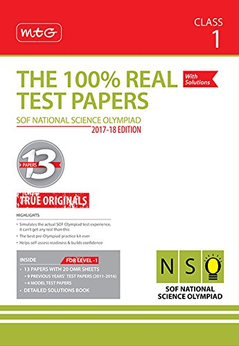 The 100% Real Test Papers (NSO) Class 1