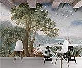Papier Peint 3D Peinture À L'Huile VintageAbstrait Paysage Décoration Murale Home...