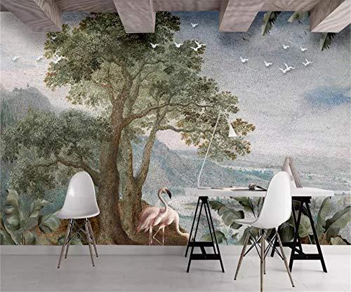 Papier Peint 3D Peinture À L'Huile VintageAbstrait Paysage Décoration Murale Home Decor Art