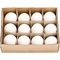 NaDeco® Gänseeier groß im Karton mit 12 Stück   Gänse Eier   Osterdeko   Osterdekoration   Ostereier   Dekoeier
