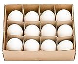 Geschenkidee Deko Ostern - NaDeco® Gänseeier groß im Karton mit 12 Stück | Gänse Eier | Osterdeko | Osterdekoration | Ostereier | Dekoeier