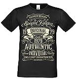 Retro Vintage T-Shirt Geschenk zum 40. Geburtstag Special Edition Original 1979 Farbe: schwarz Gr: L