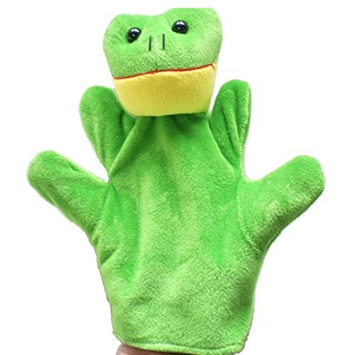 Kuhu Creations® Supreme Imagination Stories Puppet. (MHP Frog Green)