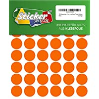 192 MM Permanent 25 MM, orange, made from PVC film, Weather-Resistant, Adhesive circular stickers Stickers Dots / Circles