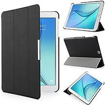 iHarbort® Samsung Galaxy Tab S2 9.7 Funda - ultra delgado ligero Funda de piel de cuerpo entero para Samsung Galaxy Tab S2 9.7 T810 , con la función del sueño / despierta (Galaxy Tab S2 9.7, negro)