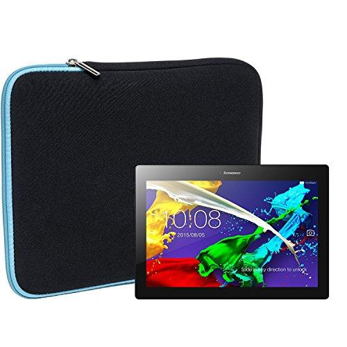 Slabo Tablet Tasche Schutzhülle für Lenovo Tab 2 A10-70 / Lenovo Miix 510 Hülle Etui Case Phablet aus Neopren – TÜRKIS/SCHWARZ