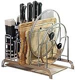 GBX Estanterías Librerías Bastidores de cocina Bastidores de ollas multifunción, Tablas de estar, Tablas de cortar, Cuchillos de piso, Suministros, Tablas de cortar, Bastidores, Bastidores, Estantes,
