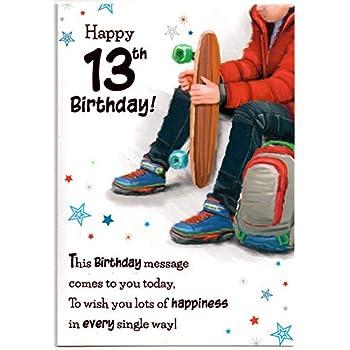 Birthday Card For Thirteen 13 Year Old Boy