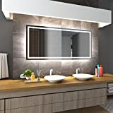Bilderdepot24 Beleuchteter LED Spiegel Badspiegel Wandspiegel mit Beleuchtung - München - 100x70 cm - LED
