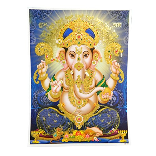 Bild Ganesha 30x40cm Elefantengott Kunstdruck Poster Dekoration Wohnaccessoire - Ganesha-bild