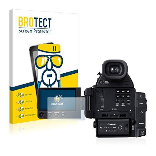 C100 Canon Kamera Cinema Eos (BROTECT AirGlass Flexible Glasfolie für Canon Cinema EOS C100 Mark II Panzerglasfolie Schutzfolie Glas Folie – Klar, Extrahart)