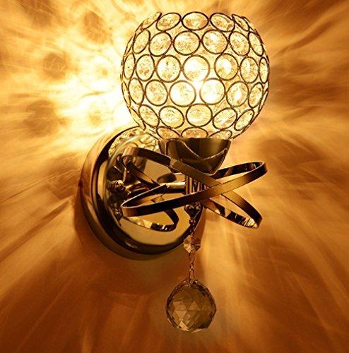 ZT Modern LED Kristall Wandleuchte Beleuchtung Befestigung Schlafzimmer Bad Lampe (Gold)