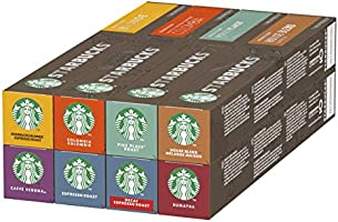 Starbucks Nespresso Variety Pack, 8 goûts différents, 10 capsules (120 Capsules au total)