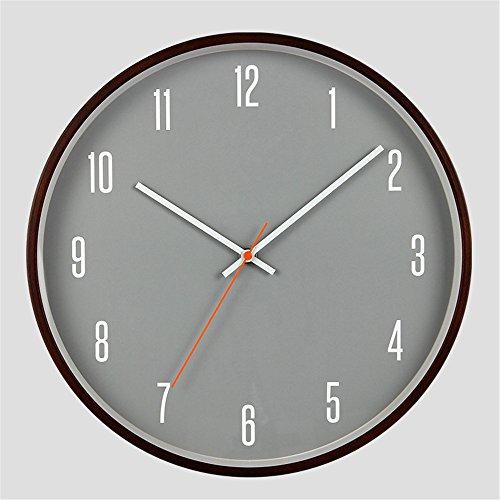 Wall Clocks Wanduhr Uhren Wecker Uhr Haushalt Pendeluhr Holz grau Silent Non Ticking Batteriebetriebene 14 Zoll einfach zu lesen Wohnzimmer Esszimmer Café und Bar Eisen Schlafzimmer brown2 - Toskana-altes Eisen