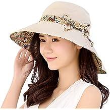 HAPEE Mujer Sol Sombrero HINDAWI Verano Reversible b37d3407551