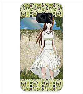 PrintDhaba Cute Girl D-5101 Back Case Cover for SAMSUNG GALAXY S7 (Multi-Coloured)