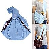 Sinbide Sling Bag Haustier Tragetücher für Kätzchen Katzen Besonders Kleine Hunde Reise Transport Tragetaschen Doggy Bag Pet Bag Pet Rucksack Haustier Tragtasche Single-Schulter (Blau)