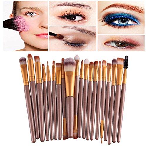 Demarkt Professionnel 20pcs kit Pinceaux de Maquillage pour les Ombre à Paupières Fondation Sourcils Pinceau Maquillage Pinceaux Or