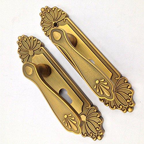 Lss serratura interna serratura interna in bronzo giallo europeo serratura classica in legno massello maniglia porta camera serratura antica