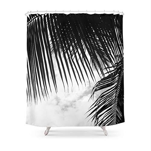 WIXIJAWR Duschvorhang Umweltfreundliche Maui Paradise Palms Hawaii Monochrome Bad Wasserdicht Und Mildewproof,150X180Cm
