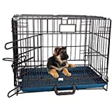 RvPaws Single-Door Folding Metal Dog Cage with Paw Protector Easy to Move with Removable Tray Iron Cage for Dog & Rabbit 18 I