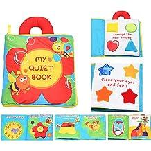Actividad infantil suave del niño del bebé Libros de Aprendizaje Historia libro de paño de educación para la vida del sueño Libros de bebé de juguete Desarrollo-Flor por WayIn®