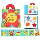 Attivitá morbido Libri del bambino del bambino Learning Story libro di panno Life Education sonno libri per bambini Infant Development Toy di WayIn® (Fiore)