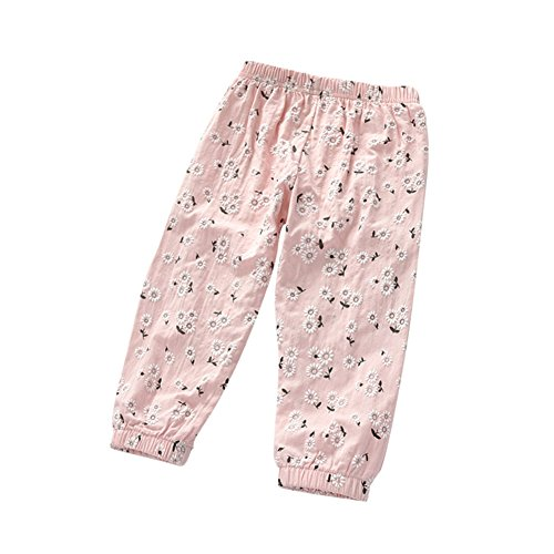 70ae6073b8a9 Ruth Wang Baby Mädchen Sommer Blume Stickerei Lässig Harem Hosen Pyjama-Hose  Rosa 90cm