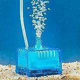 Yosoo Mini Fisch Behälter Aquarium Super Pneumatische Biochemical Aktivkohlefilter (Blau)