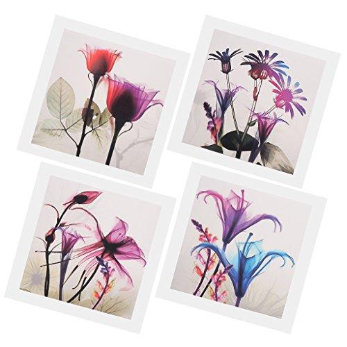 D dolity 4 pannelli olio pittura su tela immagine arte stampante fiore foto oil painting per casa hotel regalo
