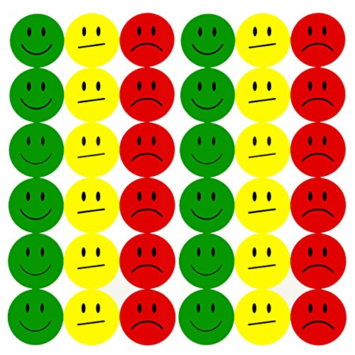 Smiley Face Sticker ø 2cm - Lächeln - Neutral - Traurig