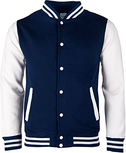 EZYshirt® Bad Company Unisex College Jacke Herren/Navy/Weiss/Weiss