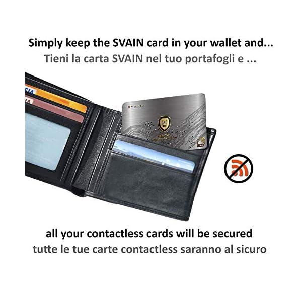 Protezione Rfid Carte Di Credito Contactless - Scheda Di Blocco Con Schermatura Rfid e Nfc - Proteggi Bancomat… 2 spesavip