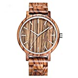 Leichte Handarbeit Holz Armbanduhr MäNnliche Uhr Sport Mode Roten Bambus Herren Holz Uhren Quarz Drop Man Clock B90G-Zebra