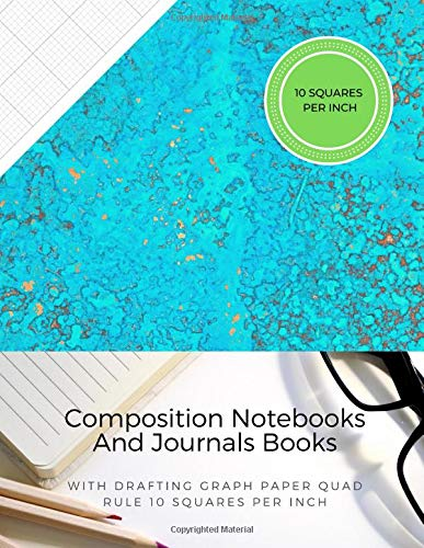 Composition Notebooks And Journals Books With Drafting Graph Paper Quad Rule ( 10 Squares Per Inch ): Graphing Notebook Journal Book College Ruled Square Grid Minimalist Art Numbered Pages Volume 61