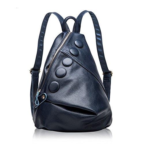 leder - tasche tasche rucksack koreanischen mode leder königsblau