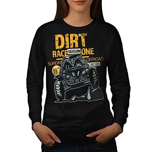 Schmutz Rennen Auto Mode Damen M Sweatshirt | (Kostüm Frauen Für Auto Rennen)
