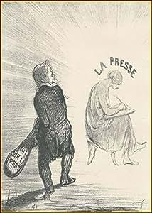 Honoré Daumier :  Parricide Thiers, journaliste libérale, une fois, il apparaît comme un censor du press.  Apr. 16), 1850/1978 Affiche 9.1/4 12,1 cm