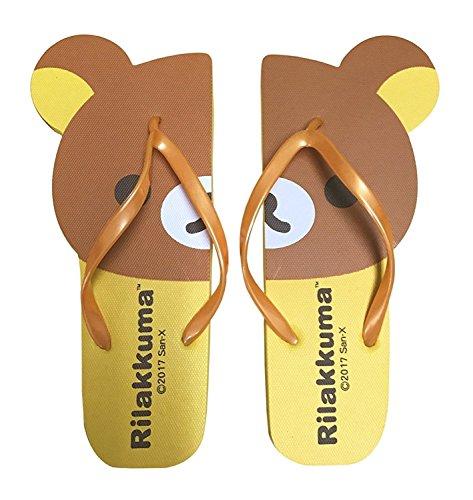 san-x Rilakkuma Flip Flops/Sandalen stanzling Damen Strand Hausschuhe (Rilakkuma/gelb) Größe ca. 7,5(frei Größe) Alpha (Flip-flops Alpha)