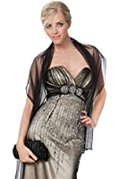 Beautiful Net Shawl With Beads Detail In Several Colours - Net Shawl