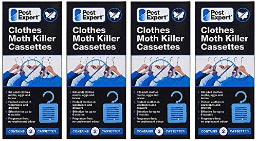 Formule Pest Expert Cassettes de Tueur de Mite (4x paquet double) Nouveau au Marché Formulation Inodoré Avancée