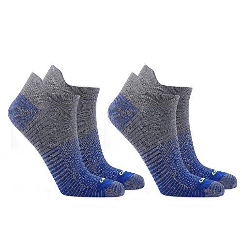 Coolmax 2 3 Paare Sneaker 38-40 41-43 44-46 Sportsocken Laufsocken Arbeitssocken Dehnbar Antibakteriell Kurzschaft Socken Strümpfe Freizeitsocken Jungen Herren Damen, 2 Paare/Blau, XL (44-46)