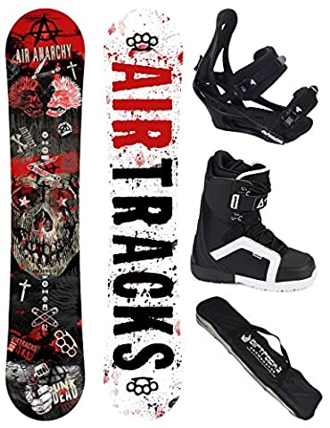 AIRTRACKS SNOWBOARD SET - PLANCHE AIR ANARCHY 159 - FIXATIONS SAVAGE - SOFTBOOTS STRONG 44 - SB SAC/ NEUF