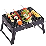 HomJo Outdoor Folding Patio Barbecue Grill Portable Camping picnic Garden Stainless Steel charcoal furnace BBQ grills Burn oven stove