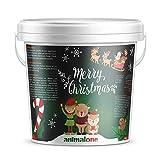 animalone - PFERDELECKERLIS Christmas-Edition - 5 KG Eimer mit Eukalyptus, Apfel & Banane – Das gesunde Leckerli für Ponys, Pferde und Einhörner